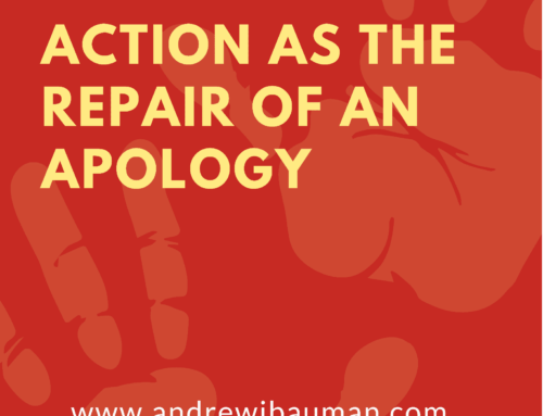 Action as the Repair of an Apology